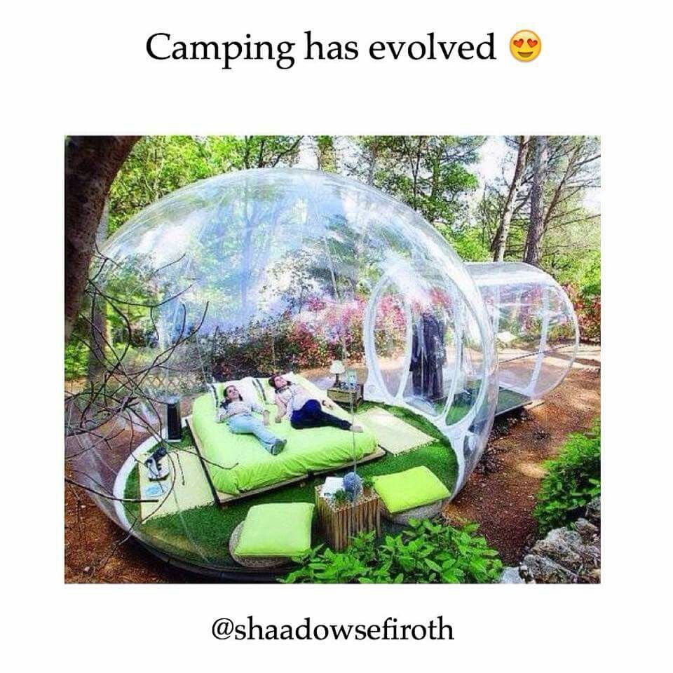 Bubble camping: endless window