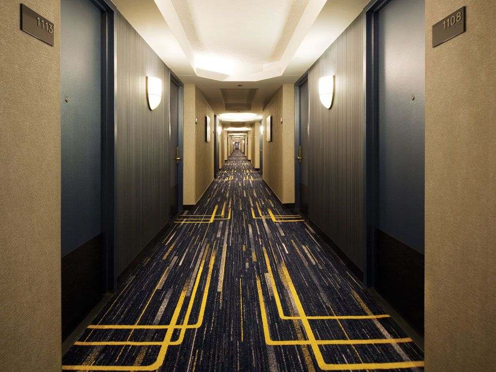 Hiltonnewark Airport Corridor Design Hotel Hallway