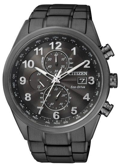dcf5c2af4640 Reloj Citizen AT8018-56E de hombre con caja y brazalete de acero pavonado  en negro