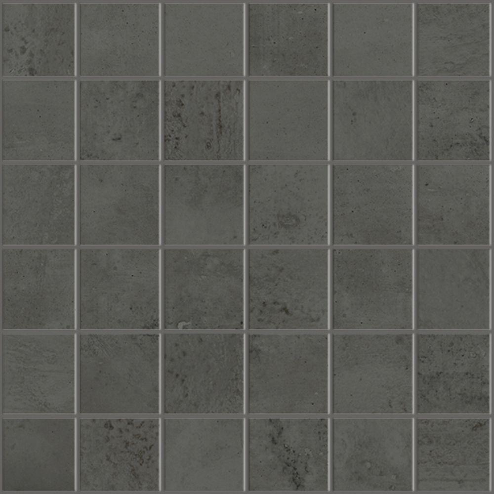 Mosaique Effet Beton Use 30x30 Noyer Collection One De Monocibec Carrelage Mosaique Parement Mural Beton