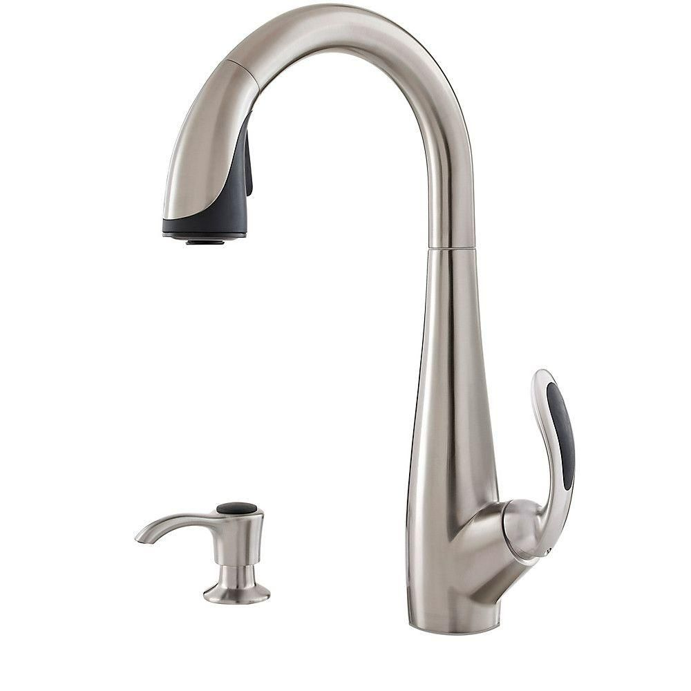 Pfister Nia Single Handle Pull Down Sprayer Kitchen Faucet With