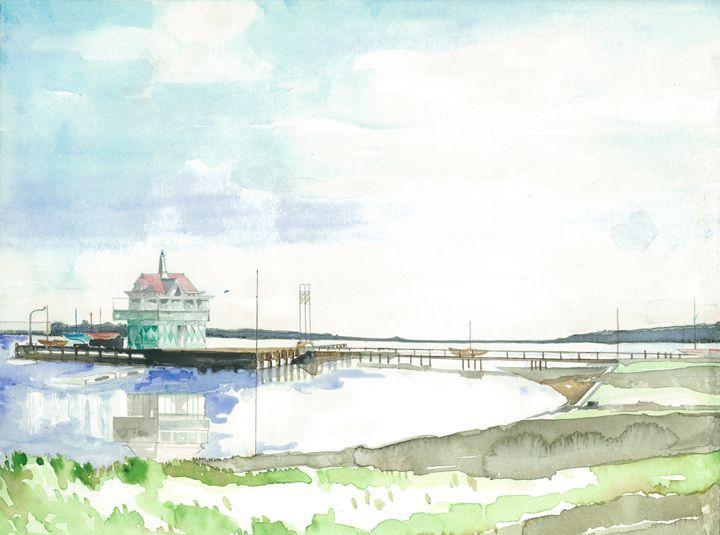 Riverton Yacht Club - alexanders - Paintings & Prints Landscapes & Nature Rivers &… | ArtPal thumbnail