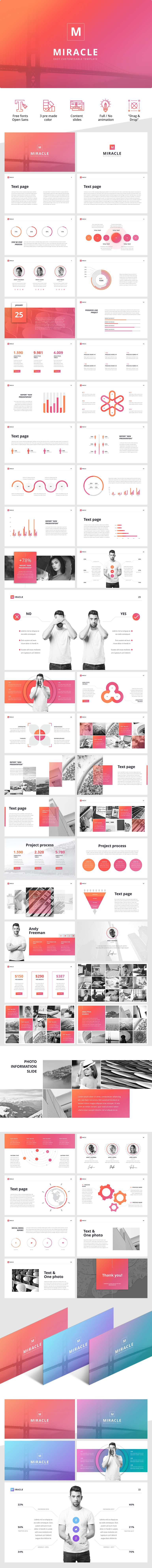 """Miracle"""" PowerPoint template 