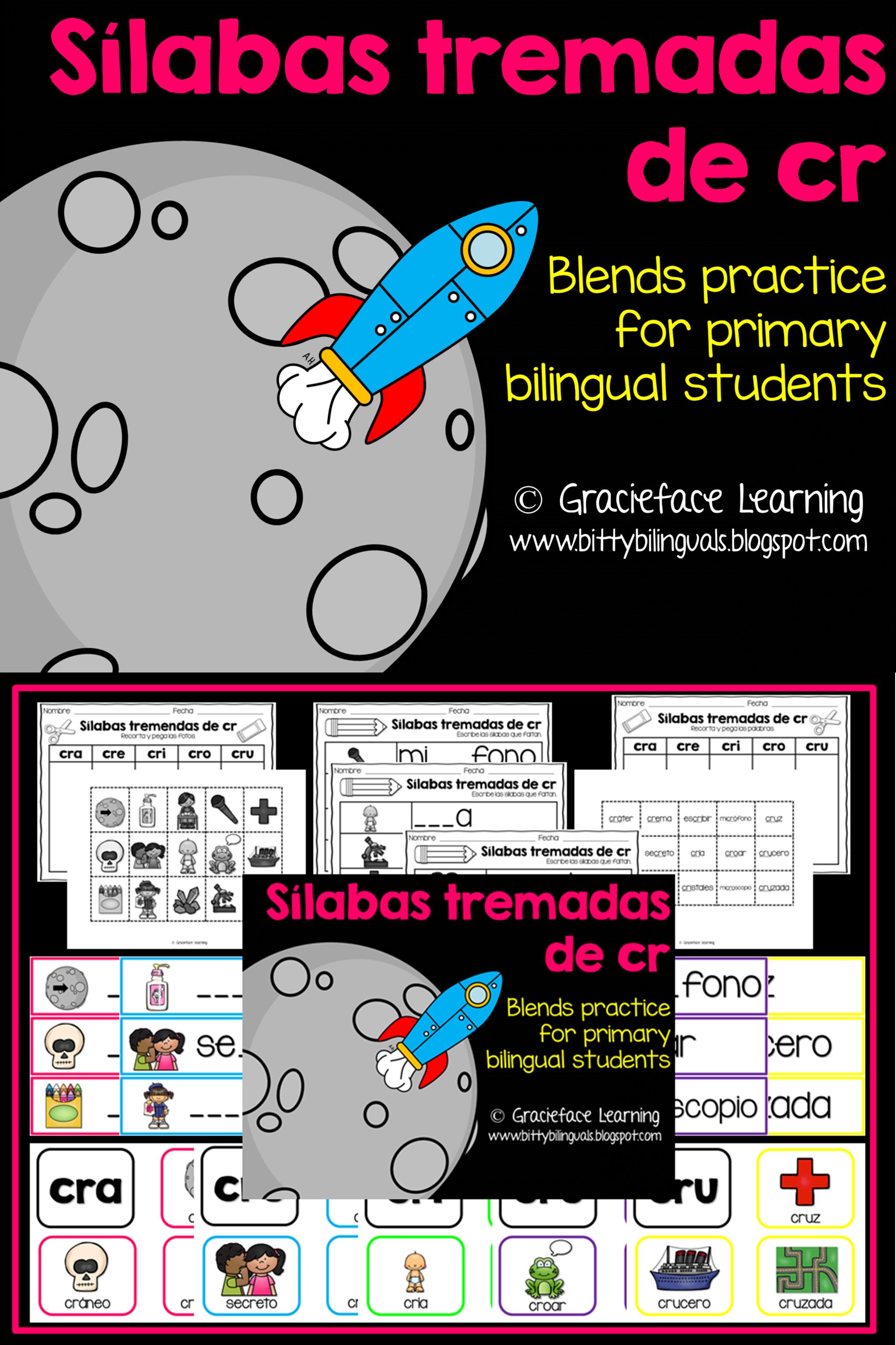 Silabas Tremadas De Cr Spanish Blends For Cr