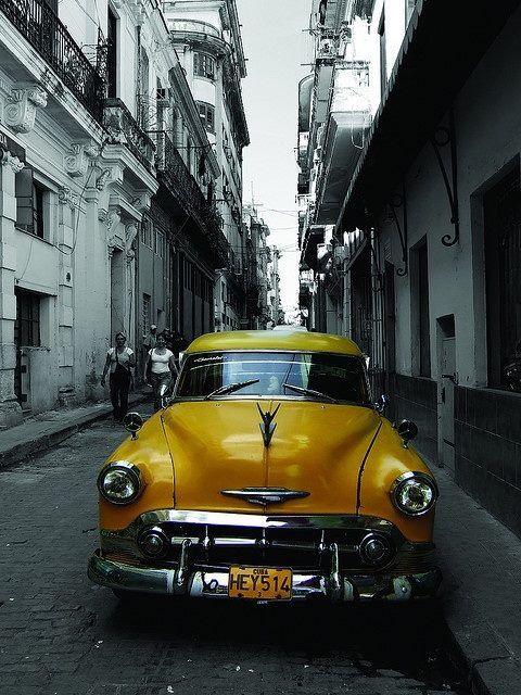 Love the yellow car