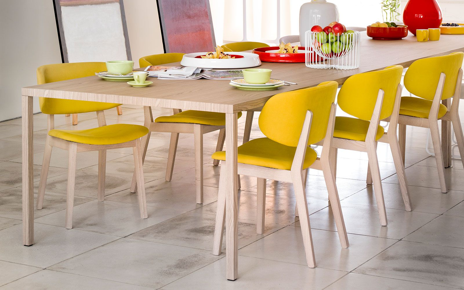 Wooden chair with large backrest claire calligaris cslh
