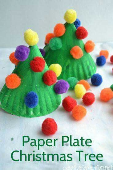 paper plate christmas trees christmas art diy christmas ornaments for toddlers christmas tree simple - Easy Christmas Crafts For Preschoolers