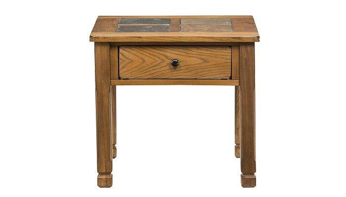 Slumberland Furniture - Rustic Ridge Collection - Oak End Table - Slumberland Furniture Stores and Mattress Stores