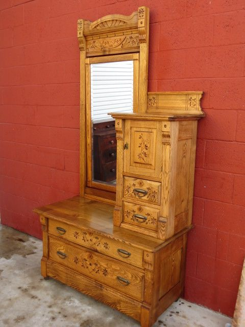 American Antique Dresser Gentlemans Chest Antique Furniture Bedroom (this  is fancier than mine but is - American Antique Dresser Gentlemans Chest Antique Furniture