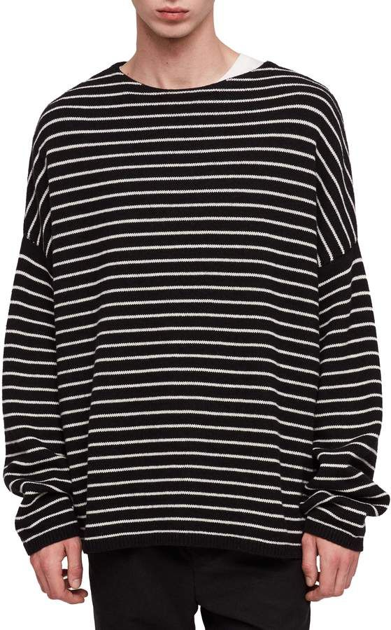 bc688f5d1 AllSaints Marty Stripe Crewneck Sweater