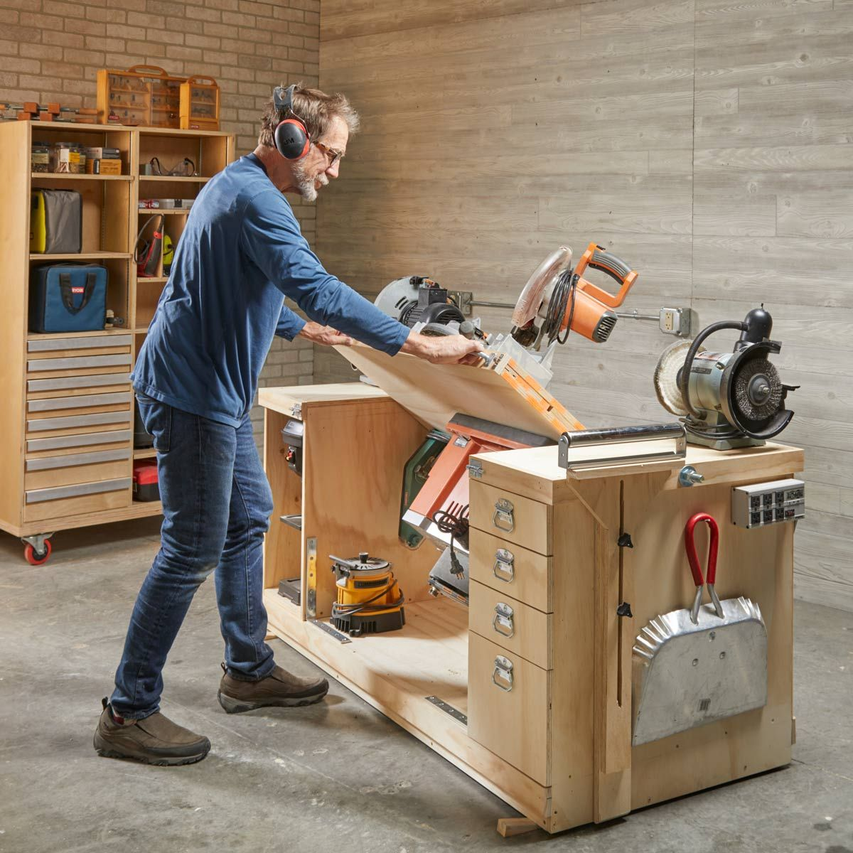 How to Build a SpaceSaving FlipTop Workbench Garage