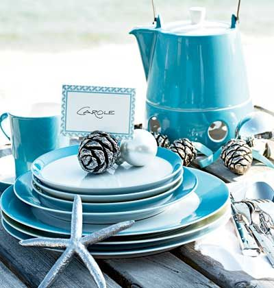 A table setting with blue plates and mugs. & A table setting with blue plates and mugs. | True Blue | Pinterest ...