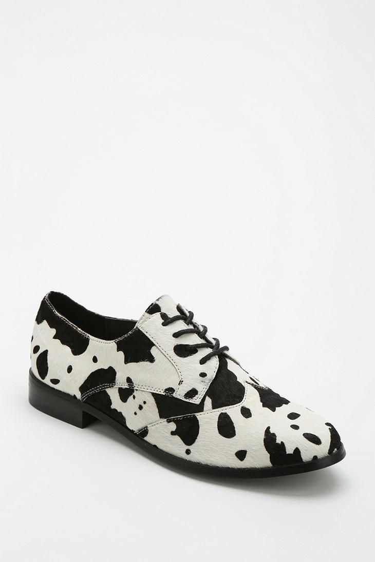 7412dc9a4c2f63 Shellys London Cow Print Oxford London Shoes