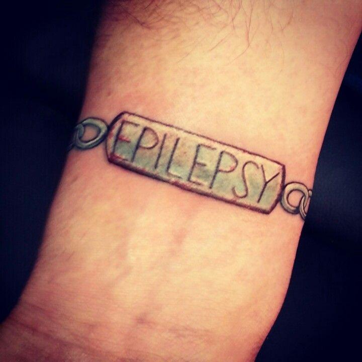 #epilepsy #tattoo My husband's new medical alert tattoo #scott