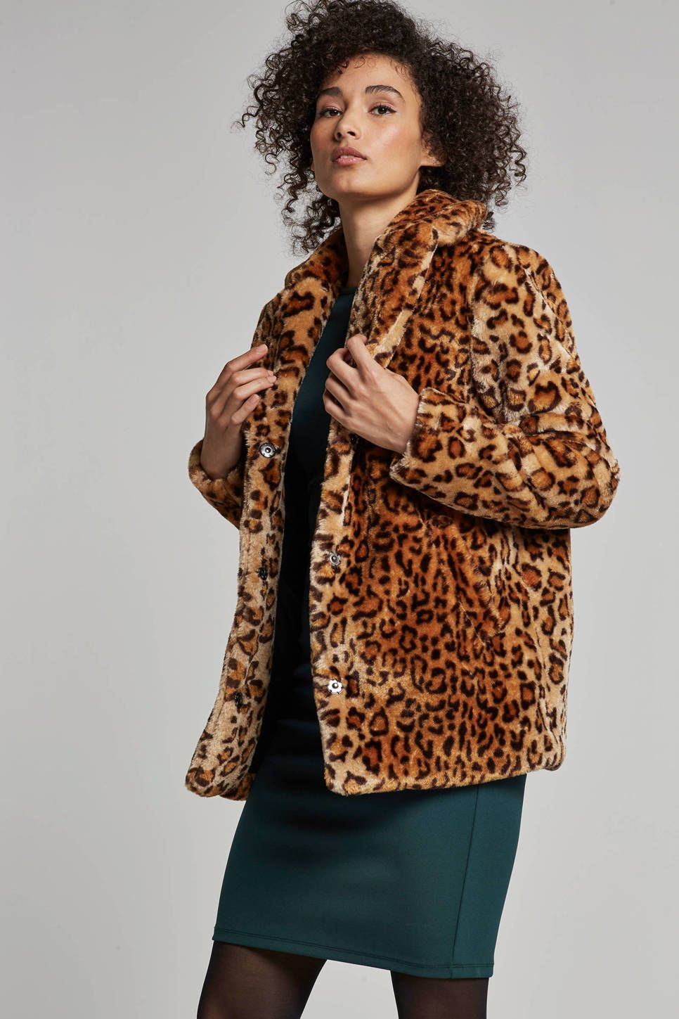 Winterjas Panterprint.Jas Met All Over Panterprint Trend Dierenprint Blazer Jackets