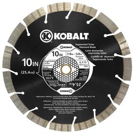 Shop Kobalt 10 In 15 Tooth Wet Or Dry Segmented Circular Saw Blade At Lowes Com Circular Saw Blades Circular Saw Saw Blade