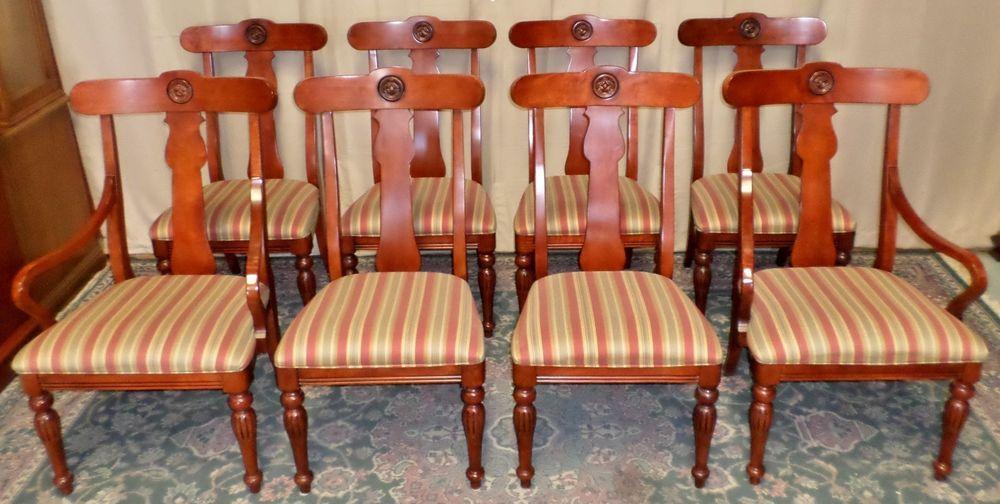 Ethan Allen Cherry Dining Chairs British Classics Cinnabar 29 6400