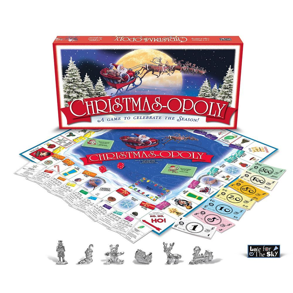 Christmas Board Games 2019.Christmas Opoly Game By Late For The Sky In 2019 Products