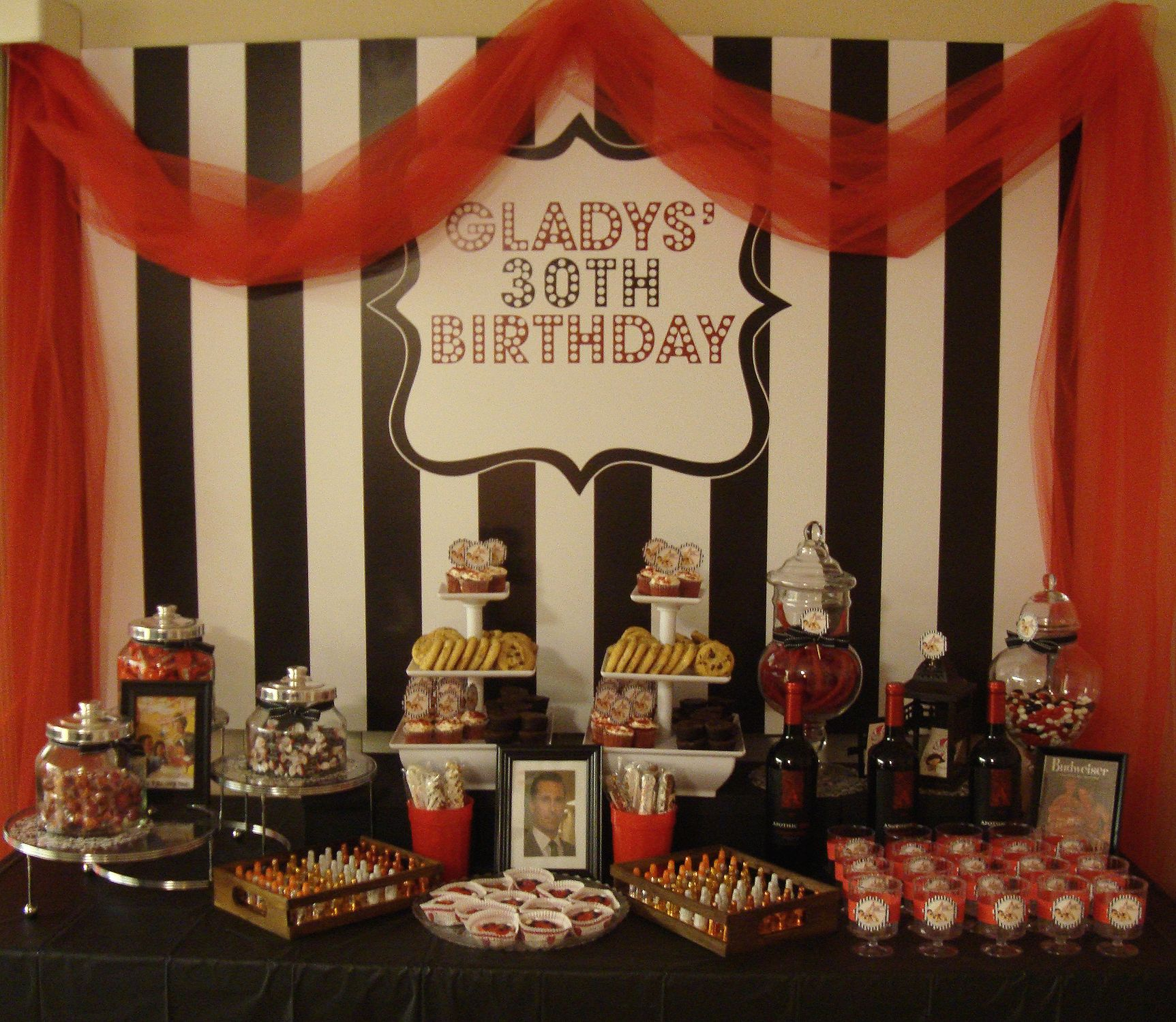 Vintage, Mad Men, Pin-up Girl Themed Dessert Table