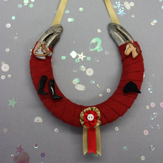 Christmas Made To Order Cast.Horse Riding Themed Horseshoe Made To Order In Any Colour