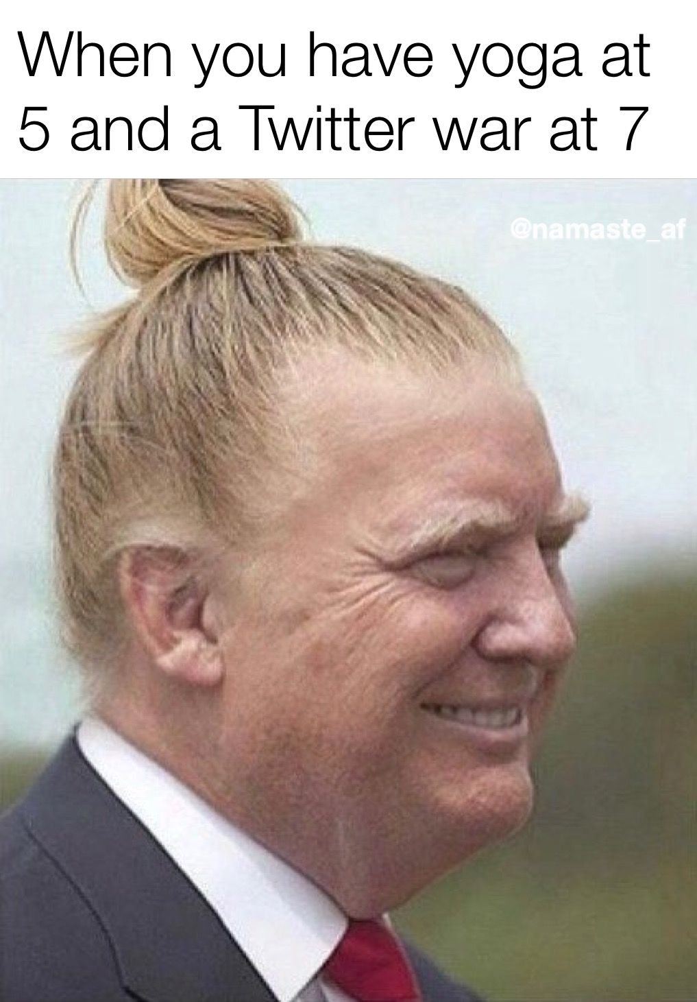 Trump Man Bun Man Bun Meme Memes Trump Man Bun