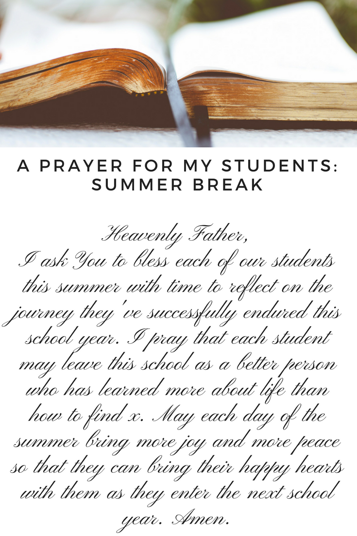 A prayer for my students | Prayer for students, Teacher prayer ...