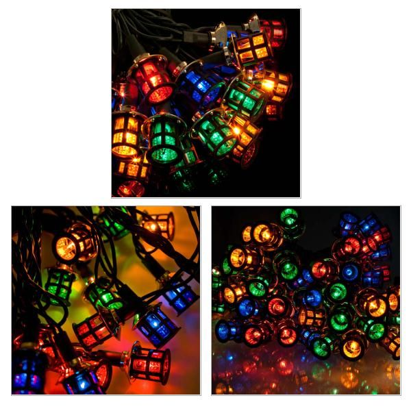 Noma Multicoloured Indoor Static Victorian Lantern Fairy Lights Green Cable