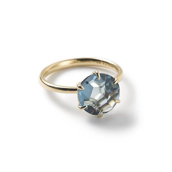 Ippolita Rock Candy 18k Gold Medium Single Stone Ring London Blue Topaz London Blue Topaz Ring Single Stone Ring London Blue Topaz Jewelry