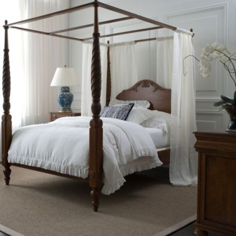 Montego canopy bed ethan allen our island inspired for Tropical canopy bed