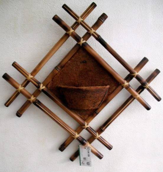 Bamboo craft projects diy bamboo wall decor ideas 2 for Bamboo wall art
