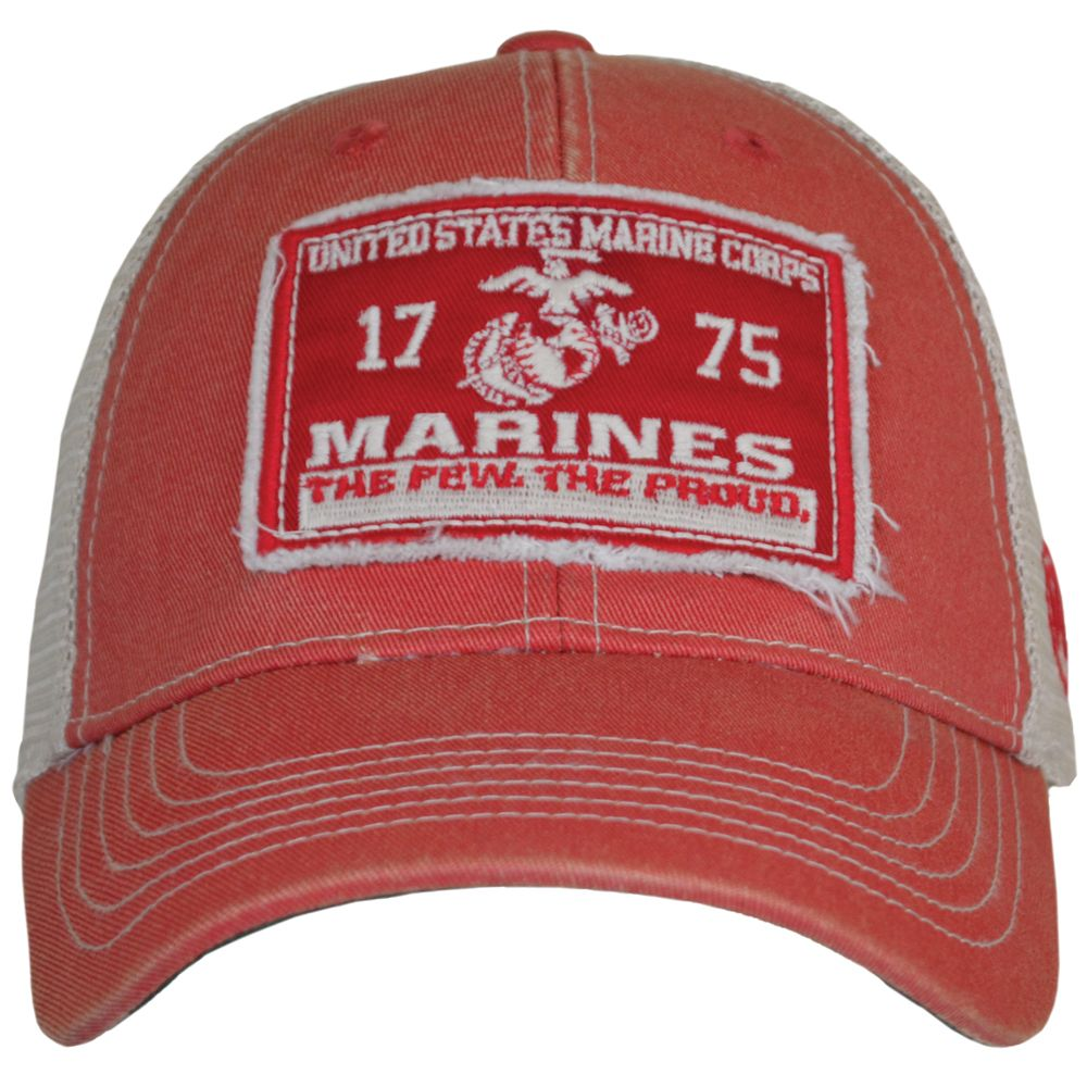 Cover your grape with vintage USMC pride while wearing this Marines Vintage  Mesh Cover Hat. Order Now! Features  Made of 100% cotton front panels and  100% ... c4cd89b28e6