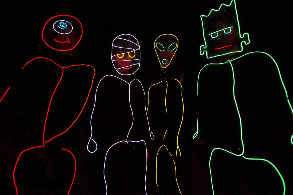 Stickman costumes made of el wire | Halloween | Pinterest