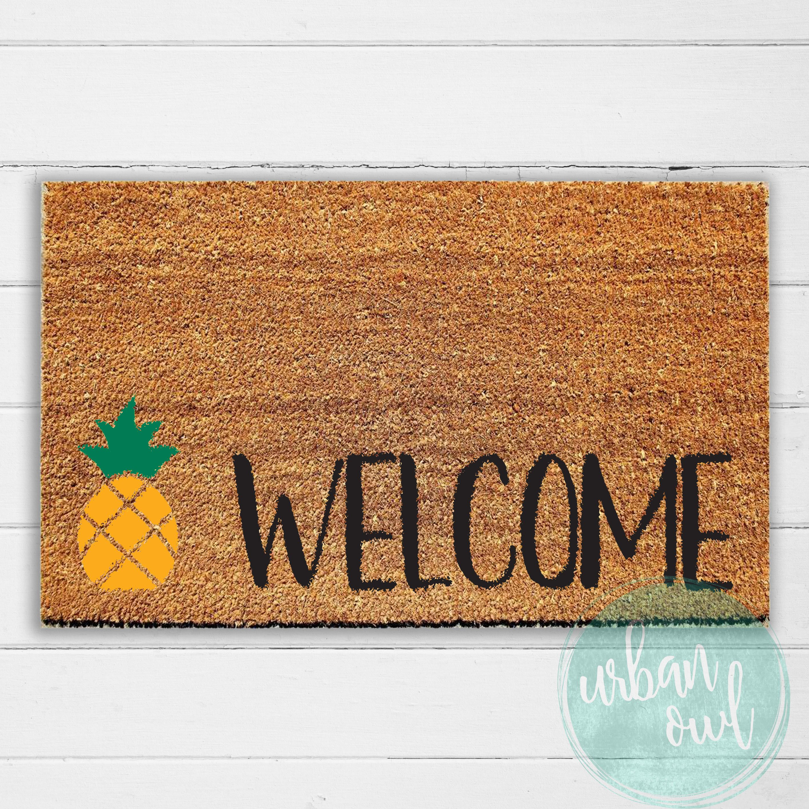 back heart welcome painted mat or hand mats and front for doormat entryway pin outdoor home