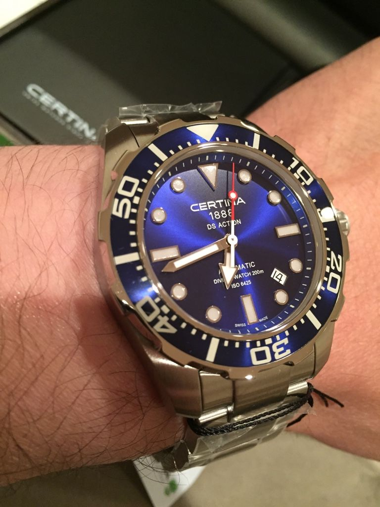 Certina Ds Action Diver C013 407 11 041 00 Certina Watches Watches For Men Blue Watches