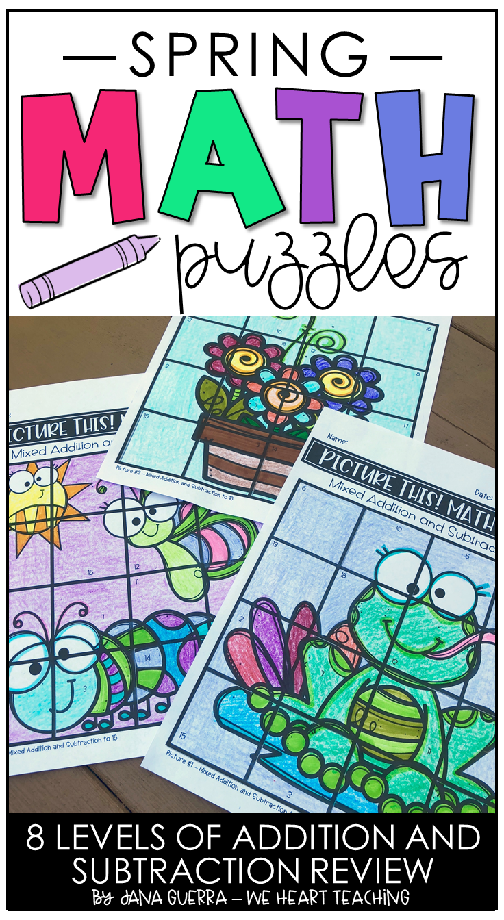 May Math Puzzles End Of Year Math Activities Math Crafts Maths Puzzles Differentiated Math Activities [ 1344 x 736 Pixel ]