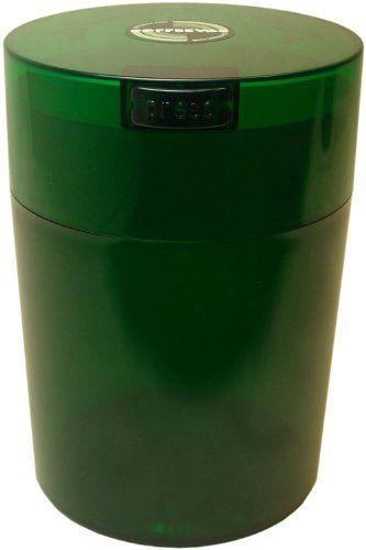 Tightvac Coffeevac 1 Pound Vacuum Sealed Storage Container,  Emerald Tinted Body/Cap - http://www.teacoffeestore.com/tightvac-coffeevac-1-pound-vacuum-sealed-storage-container-emerald-tinted-bodycap/