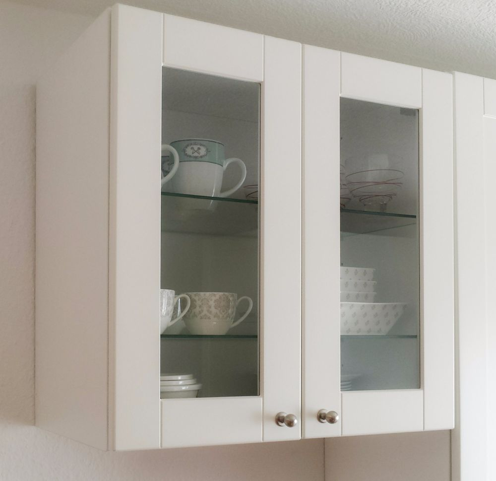 Küche Oberschrank weiß Grytnäs Metod Glas Vitrine Ikea neuwertig ...