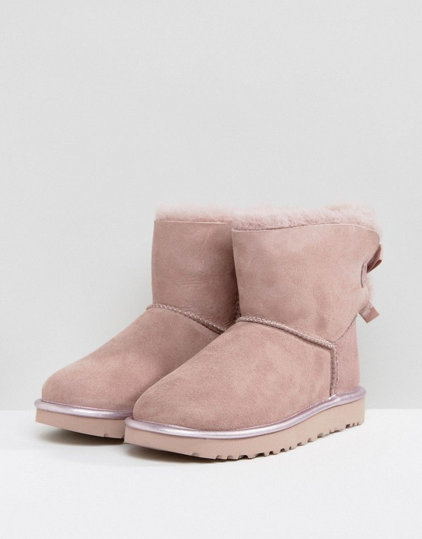 Boots MINI BAILEY BOW METALLIC in 2019 | shoes | Uggs, Boots