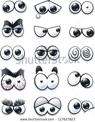 stock vector : Cartoon eyes collection