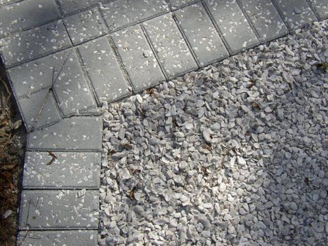 100 Pervious Driveway Crushed Oyster Shell With Tabby Shell