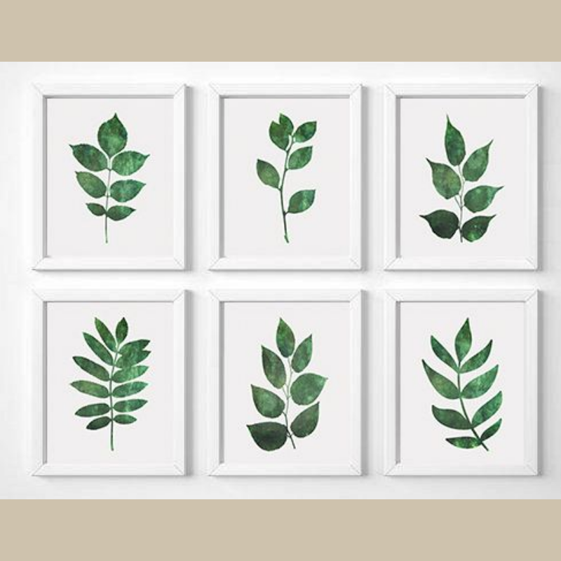 Easy Diy Botanical Art For Your Home I Love Simple Art Prints And These 6 Botanical Posters Are Great For Coast Leaf Wall Art Diy Wall Art Handmade Home Decor