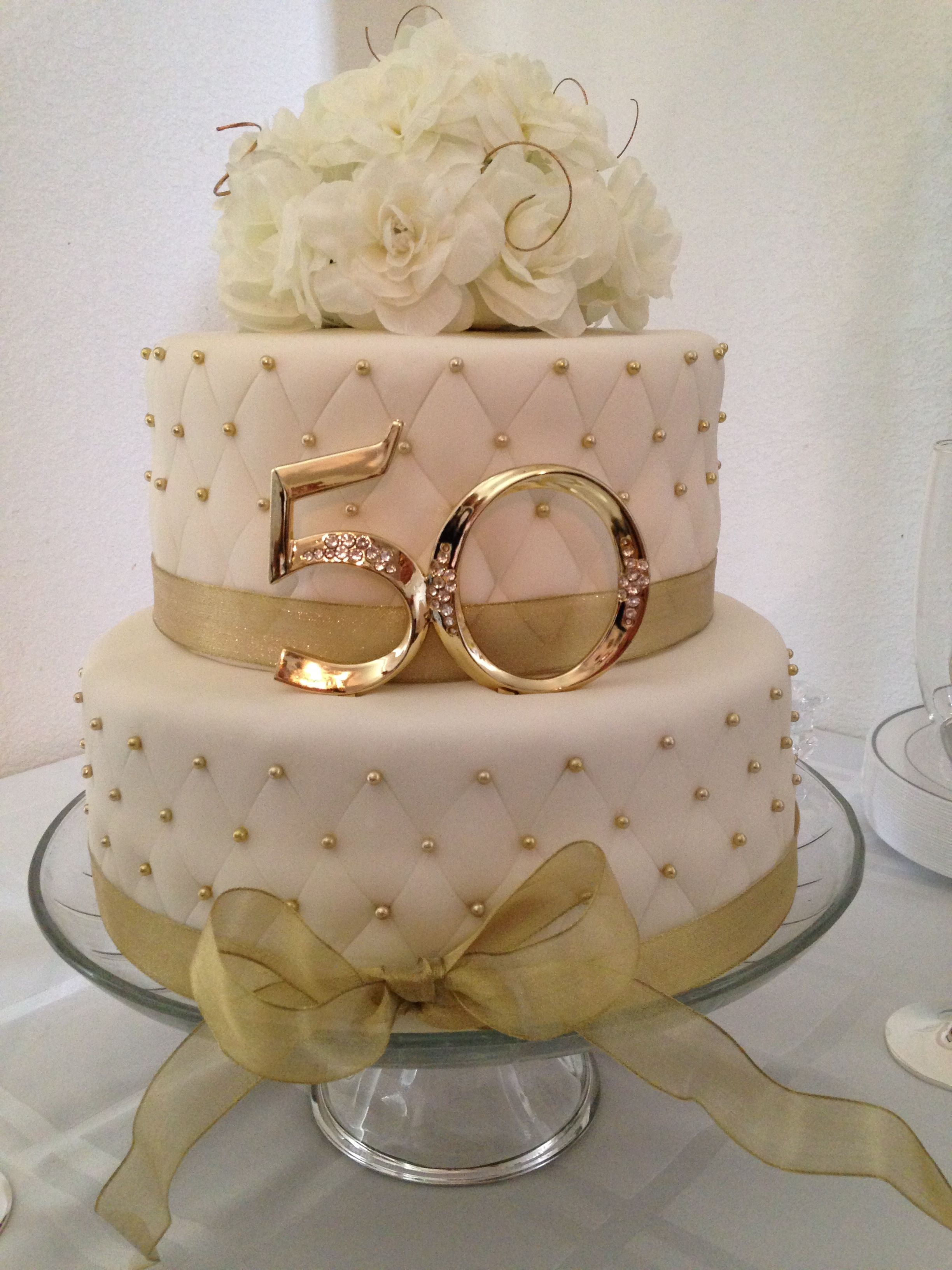 Anniversary 50th anniversary cake cakes pinterest for 50th wedding anniversary cake decoration ideas