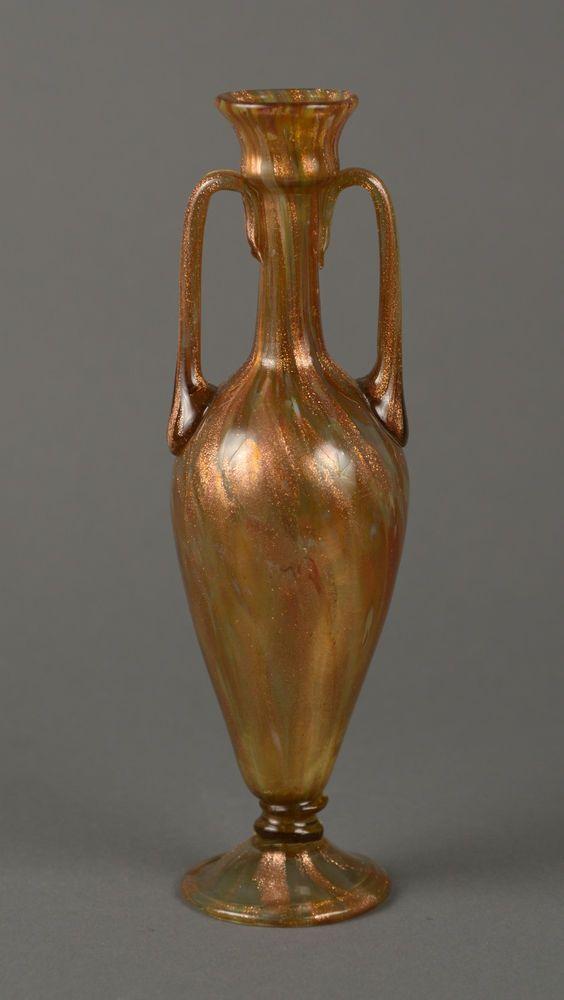 Stunning Salviati Venetian Glass Vase 19th Antique Murano With