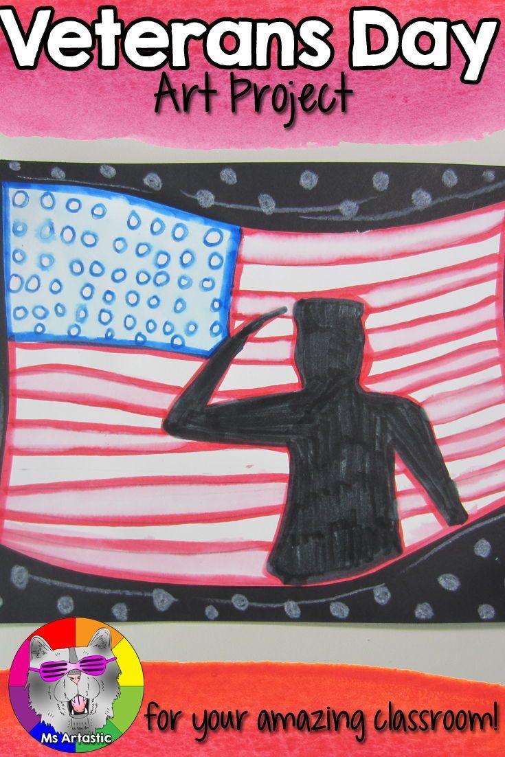Veterans Day Art Project, Honoring Veterans #veteransdayartprojects