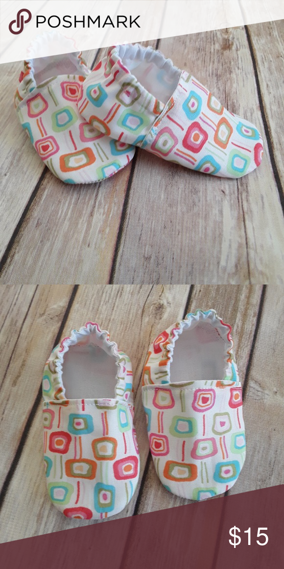 Handmade Boutique adorable baby shoes size 6/9 mos