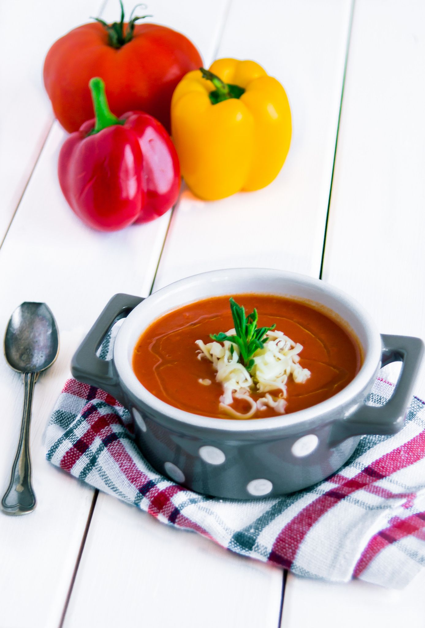 Red Pepper Tomato Soup Stuffed Peppers Food Photo Tomato Soup