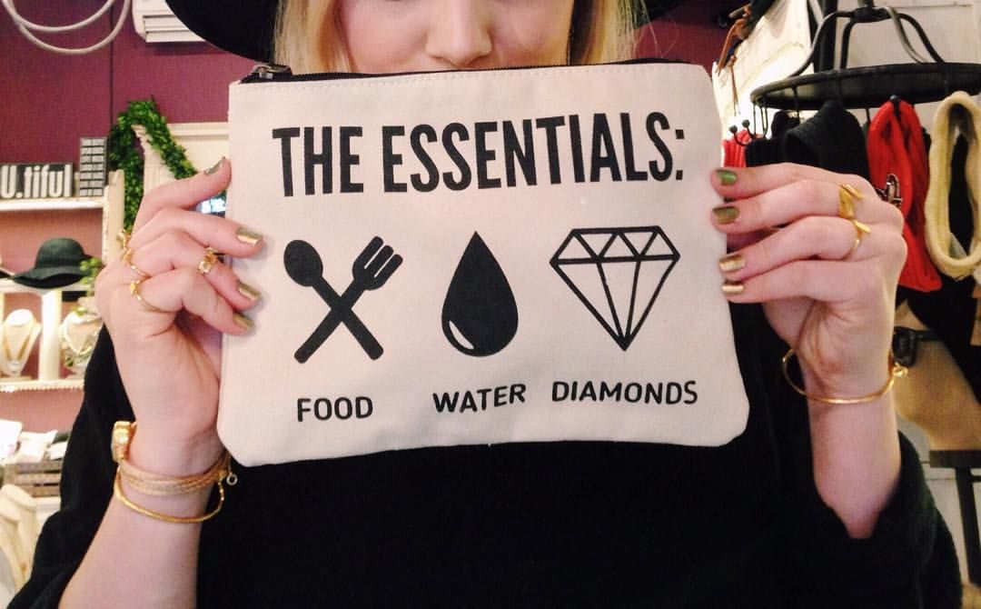 The Essentials.  #canvaspouch #inspirationalquote #bags #purse #gifts