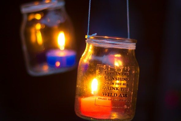 Hanging Jar Candle Lights | Garden Lantern Chandelier | DIY Outdoor Lighting Idea