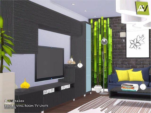 Sims 4 CC\'s - The Best: Besta Living Room TV Units by ArtVitalex ...