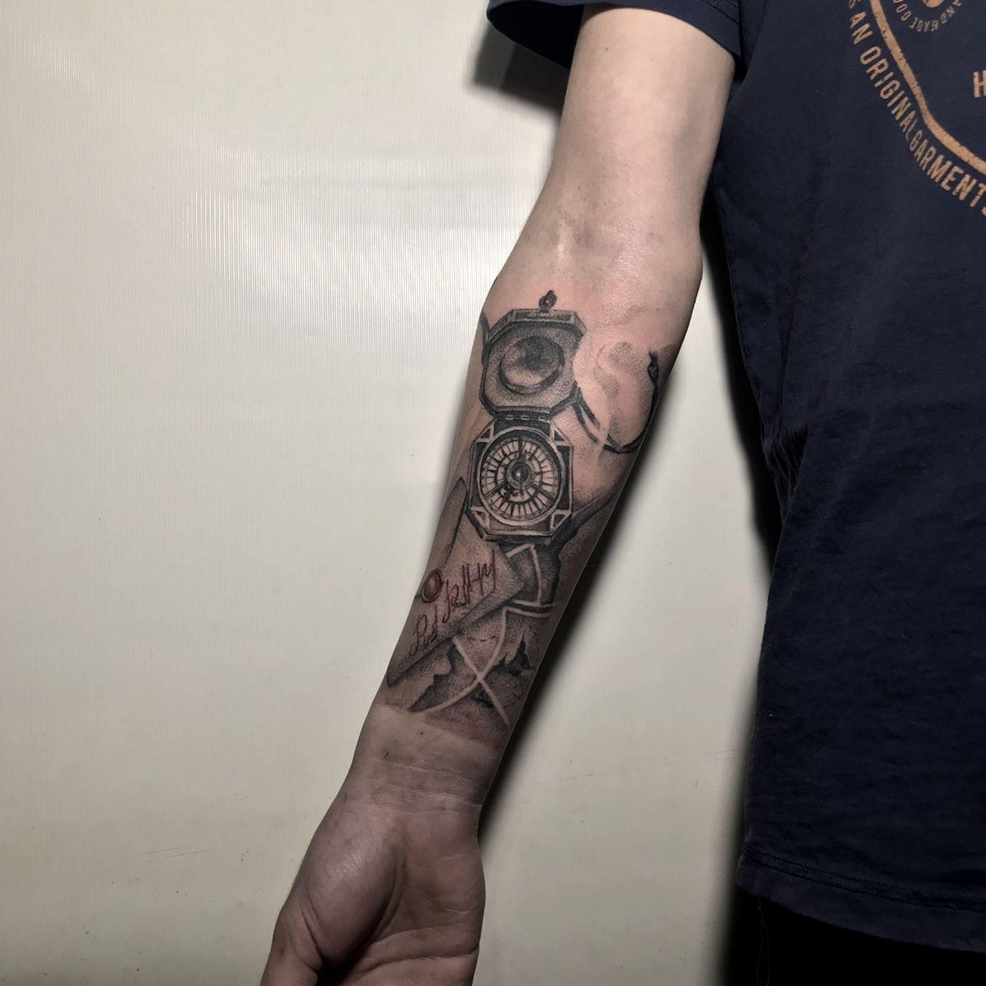 Tattoo Compass Map Letter тату компас письмо карта сокровища